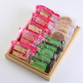 自家茶園の茶葉を使ったフィナンシェ、佐伯の苺を使用した新銘菓【菊姫物語】も入った「佐伯コレクション3000」