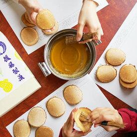 臼杵煎餅 手塗り体験キット 煎餅各種計40枚 材料・道具付 せんべい 和菓子 煎餅 しょうがせんべい 薄焼き 厚焼き 体験 せんべい作り キット 自由研究 大分銘菓 有機生姜 伝統銘菓 袋入り 自宅用 大分 後藤製菓