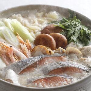 北海道 石狩鍋 セット 具材付 北海道 鮭 海鮮鍋 ほたて 味噌鍋 鍋セット 冷凍 産地直送グルメ 寄せ鍋 豪華