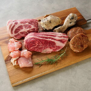 肉 前田牧場のファーマーズ BBQ 焼肉セット 2〜3人前 800g 国産 栃木県産 牛肉 豚肉 鶏肉 焼き肉 前田牛