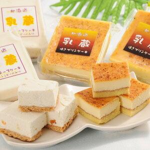 スイーツ 乳蔵 レアチーズケーキ 焼きプリンケーキ セット 洋菓子 北海道 プリン デザート おやつ