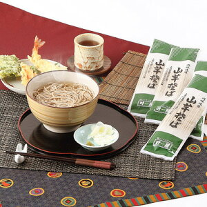 そば グルメ 乾麺(日本蕎麦) 昔ながらの素朴な味わい〈山芋そば〉10セット 株式会社叶屋食品