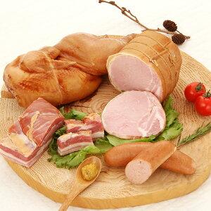 ハム お取り寄せ ロースハム ベーコン スモークチキン 4種詰合せ 国産銘柄豚 学園手造りハムの会 茨城県
