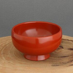 送料無料 稲庭饂飩用を食すためだけに開発されたこだわりの大椀。国指定伝統工芸品 川連塗り 稲庭饂飩椀 洗朱