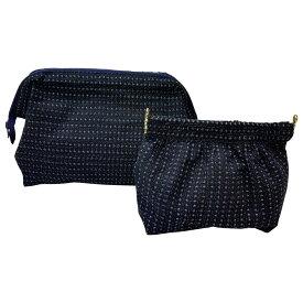 和装小物 着物地で作ったポーチ大小セット 着物ポーチ 紬 小物入れ バッグ ミニポーチ 化粧ポーチ 女性 ファッションオフィスエイ 兵庫県