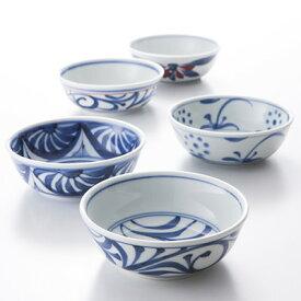 送料無料 3.7寸平鉢 同絵柄5枚セット 梅山窯 愛媛県 酢の物やおひたしなどに最適。砥部焼では珍しい軽量・薄手に仕上げた小鉢