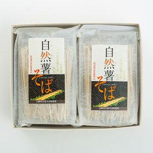 そば 乾麺(日本蕎麦) 自然薯そば8食分セットつゆ付き 大山のすそ野で栽培した自然薯