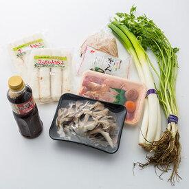 送料無料 新鮮食材きりたんぽ鍋セット 水木食品ストア 秋田県 秋田産米で作ったきりたんぽと新鮮野菜、地鶏肉の詰め合せ