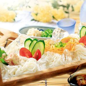 ド・ロさまそうめん・めんつゆ詰合せ〔素麺(300g×6袋)、めんつゆ(200ml×2本)〕