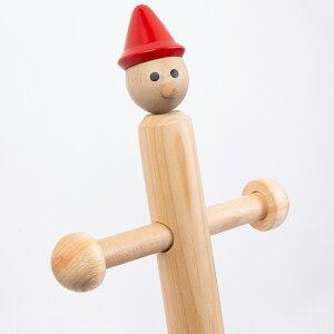 ひのき ポールハンガー 天然木 ナチュラル 木製 子供 インテリア 家具 キッズ ピノキオ 子供部屋 収納 おしゃれ 子ども