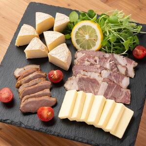 チーズと肉のスモークセット チーズの燻製 合鴨の燻製 おつまみ 肉 スモーク お肉 秋田 燻製 オードブル 岩城の燻製屋チャコール