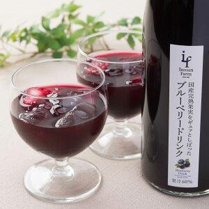いのさんのブルーベリードリンク2本セット ジュース 国産 ブルーベリー フルーツジュース ストレート 果汁