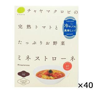 ミネストローネ 冷製 160g×40 スープ レトルト 冷たい 完熟トマト 具だくさん 野菜たっぷり 簡単調理 乳製品不使用 保存料不使用 無添加 ヴィーガン 自然食 マクロビ マクロビオティック 東京