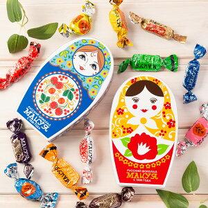 ロシアチョコレート詰合せ マトリョーシカ化粧箱 赤 青 各10箱 セット チョコレート 洋菓子 詰め合わせ お菓子 チョコ