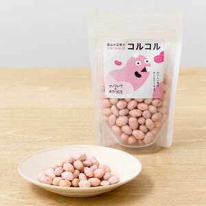 富山の豆菓子いちごみるく豆 コルコル 80g×6 豆菓子 お菓子 富山産 国産 いちごミルク味 おやつ いちごミルク 大豆 大鶴 デザート コラボ 島川 オノマトペのおやつたち