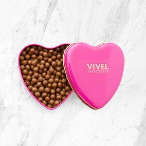 クランチチョコレート ハート缶 3個 セット クランチチョコレート ミルク チョコレート ホワイトチョコレート 洋菓子 神奈川 VIVEL PATISSERIE