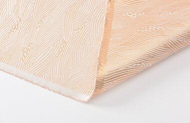 日本製帯地葵二丁白金波白色72cm巾【生地布】