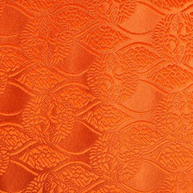 日本製帯地桂無金上雲立涌に向鶴オレンジ72cm巾