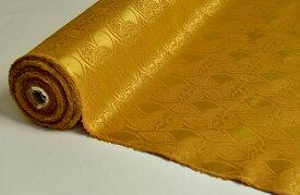 日本製帯地 桂無金 上 雲立涌に向鶴 金色 72cm巾【生地 布】