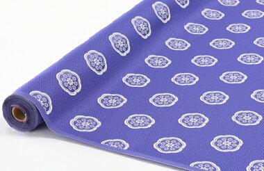 日本製帯地琳派名物裂二丁青紫色72cm巾【生地布】