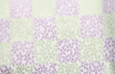 日本製帯地桂2号上桜市松ライラック×ミント72cm巾