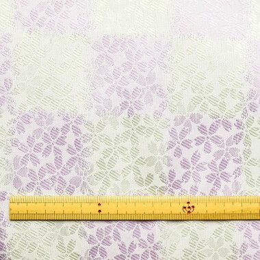 日本製帯地桂2号上桜市松金×銀72cm巾