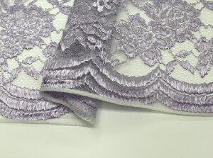 新色ラッカバンレース【100〜105cm巾 生地 布】肉厚 多色 高級感 エレガント ドレス オリジナルカラー