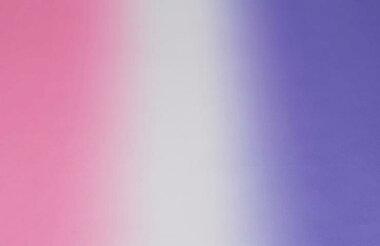シャイニーサテンピンク〜ホワイト〜パープル【140巾グラデーション生地布]