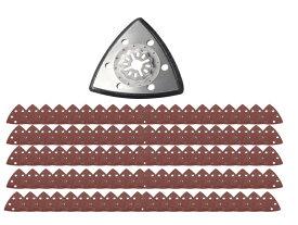ボッシュ 全対応 ロック機構 マルチツール 研磨系替刃 サンドペーパー 100枚セット マキタ 日立 BOSCH 三角ポリッシュ 送料無料