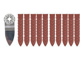 マルチツール替刃 先端替刃君 S-325S+サンドペーパー100枚 マキタ 日立 先端工具 カットソー ブレード 送料無料