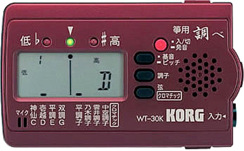 【送料無料 郵便】KORG チューナー 「調べ」 箏(琴)用 WT-30K