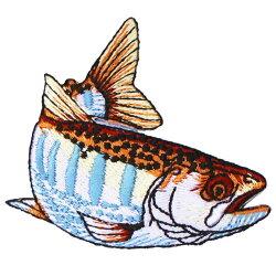 riverpeak(リバーピーク)リアルフィッシュ刺繍アイロンワッペンヤマメイワナニジマス3点セットRP-WP400【ゆうパケットOK】2
