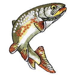 riverpeak(リバーピーク)リアルフィッシュ刺繍アイロンワッペンヤマメイワナニジマス3点セットRP-WP400【ゆうパケットOK】3