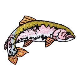 riverpeak(リバーピーク)リアルフィッシュ刺繍アイロンワッペンヤマメイワナニジマス3点セットRP-WP400【ゆうパケットOK】4
