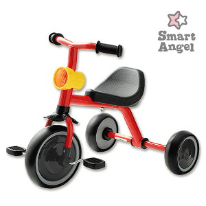 SmartAngel)三輪車funny3(レッド)[女の子 男の子 2歳 おもちゃ 子供 3歳 こども 4歳 3輪車 組み立てる 子供玩具 乗用玩具 2才 誕生日プレゼント 玩具 乗り物]
