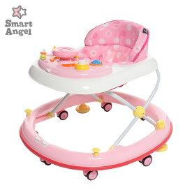 SmartAngel)エンジョイウォーカー ステップ2(ピンク)【歩行器】[ベビー 赤ちゃん おもちゃ 乳児 ベビーウォーカー ベビー用品 ベビーグッズ 赤ちゃん用品 赤ちゃんグッズ 子供玩具]
