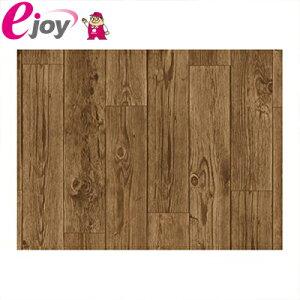 貼ってはがせる床リノベシート 45cm×120cm アンティーク木 ( リノベーション 床シート シール 模様替え フローリング 床デコ DIY)