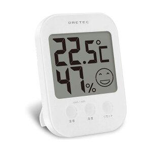 ドリテック デジタル温湿度計 オプシス O-230 ホワイト 4536117010862