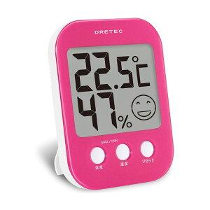 ドリテック デジタル温湿度計 オプシス O-230 ピンク 4536117010879