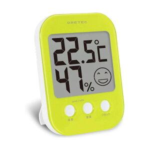 ドリテック デジタル温湿度計 オプシス O-230 グリーン 4536117010992