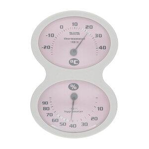 タニタ 温度計 アナログ 温湿度計 TT-509 ピンク 4904785550919