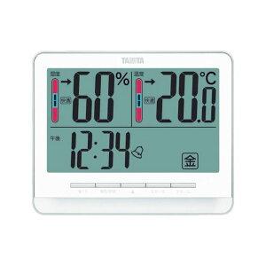 タニタ 温度計 デジタル温湿度計 TT-538 ホワイト 日付表示 時刻表示 時計 4904785553811
