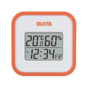 タニタ デジタル温湿度計 TT-558 オレンジ 日付表示 時刻表示 時計 4904785555815
