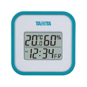 タニタ デジタル温湿度計 TT-558 ブルー 日付表示 時刻表示 時計 4904785555822