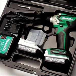 マキタ充電式インパクトドライバーMTD001DSX送料無料(ドライバードライバインパクトドライバー充電式電動工具予備バッテリー14.4V)DIY