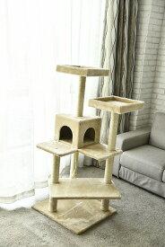 猫タワー 大人気 キャットタワー  4段タイプ  ZJS15640 飽きの来ない機能  ペッツラブ 当店オリジナル インテリア 組み立て簡単