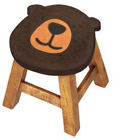 ラウント゛スツール クマシェイフ゜スツール キッズチェア 熊 くま 動物 木製 子供用椅子 かわいい プレゼント