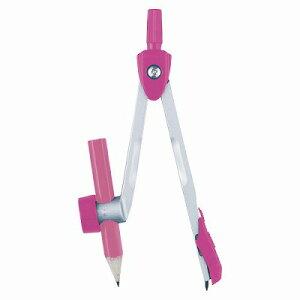 シルバーカラーコンパス 鉛筆用 ピンク JC351P