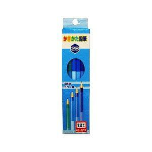 かきかた 鉛筆 学習 鉛筆 1ダース 12本 4色軸のかきかた鉛筆 2B