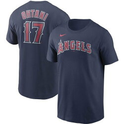 在庫あり出荷可能MLB公式大谷翔平グッズ大谷17エンジェルス大谷翔平ネーム&ナンバーTシャツエンゼルス(ネイビー)USサイズ:M